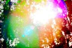 Prismatische Sonneneruption des bunten Hintergrundes Lizenzfreie Stockfotografie