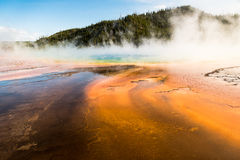 Prismatischer Frühling in Yellowstone Nationalpark stockbilder