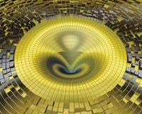 Prismi dell'oro di turbine Fotografie Stock