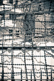 Prison. High wall with barbwire on an old prison Royalty Free Stock Photo