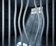 Prison 3d et bar déplié en métal illustration stock