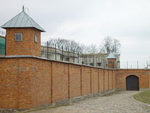 Prison. Historical prison in Lithuania royalty free stock images
