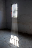 Prison. Sunlight pours from the window in a prison royalty free stock photography