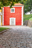 The prison adjacent  to the church in Kastellet, Copenhagen. Stock Images