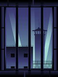 Prison background, vertical Royalty Free Stock Photography