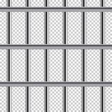 Prison bar seamless pattern. Vector realistic illustration  on transparent background. Prison bar seamless pattern. Vector realistic illustration  on Royalty Free Stock Photography