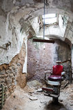Prison barbers. Eastern state penitentiary in Philadelphia in Pennsylvania, America. Prison barbers cell Royalty Free Stock Photos