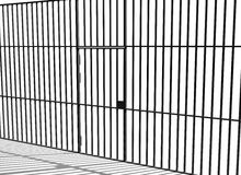 Prison bars. Illustration of prison bars and cell door Stock Image