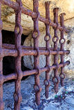 Prison bars. Antique iron Prison bars crossing Royalty Free Stock Images