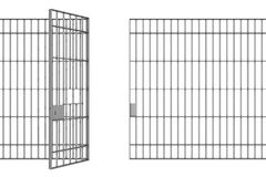 Prison bars Royalty Free Stock Photo