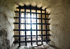 Prison bars Stock Images