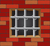 Prison bars on brick wall vector Stock Photography