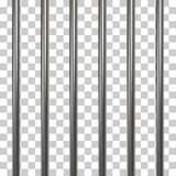 Prison bars isolated on transparent Royalty Free Stock Photography