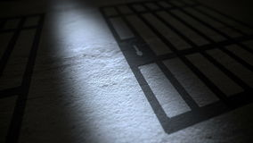 Prison Bars Shadow stock footage