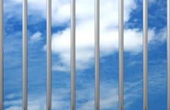 Prison bars sky 3D royalty free illustration