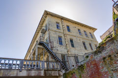 Prison Buildings of Alcatraz Island Prison Royalty Free Stock Images
