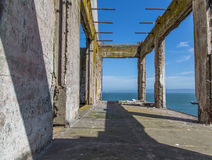 Prison Buildings of Alcatraz Island Prison Stock Photos