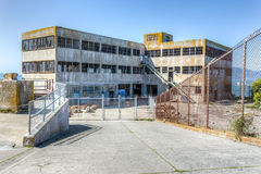 Prison Buildings of Alcatraz Island Prison Stock Photo