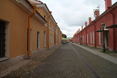 Prison buildings in Peter and Paul Fortress in Saint Petersburg Stock Photography