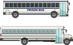 Prison bus  on white background in flat style Stock Photography