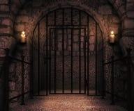 Prison Castle Backdrop Royalty Free Stock Photography
