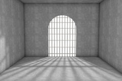 Prison cell. 3d prison cell with lattices Royalty Free Stock Photos