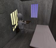 Prison cell Royalty Free Stock Photo