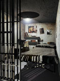 Prison cell. Interior of a prison cell Royalty Free Stock Images