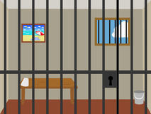 Prison cell. An illustration of an empty prison cell Royalty Free Stock Image