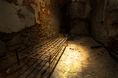 Prison cell. Abandoned prison cell inside Eastern State Penitentiary stock image