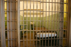 Prison cell in Alcatraz stock photography