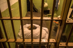Prison cell on Alcatraz Island, San Francisco Royalty Free Stock Photography