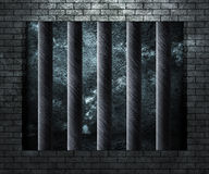 Prison Cell Background Stock Image