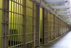 Prison cell bars Stock Image