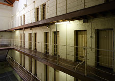 Prison cell block Royalty Free Stock Photo