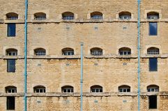 Prison Cell Block Wall Royalty Free Stock Photos