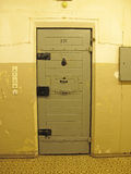 Prison cell. The Hohenschoenhausen prison is a museum and memorial in Berlin. It was the former Stasi prison of the former East German Communist Ministry of royalty free stock image