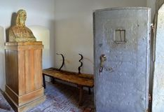 Prison cell - Horea, Closca and Crisan. Image of the prison cell, where the captain of the uprising romanian peasants from Transilavania, Vasile Ursu Nicula or Royalty Free Stock Images