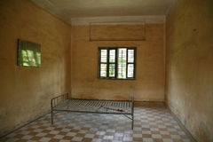 Prison cell. Pnom Penh. Cambodia Royalty Free Stock Photography