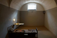 Prison cell for political prisoners in Peter and Paul Fortress Stock Photo
