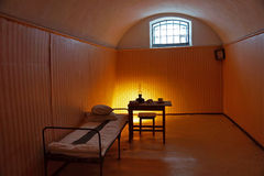Prison cell for political prisoners in the Peter and Paul Fortress Royalty Free Stock Photography