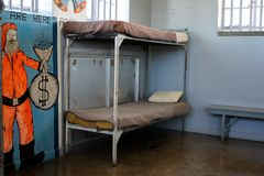 Prison Cell of Robben Island Prison Royalty Free Stock Photo