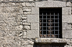 Prison cell window Stock Photography