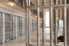 Prison Cells. At the Old Idaho Penitentiary Stock Photo