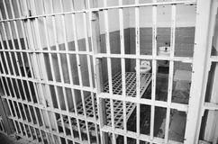 Prison cells, Black&White Stock Images