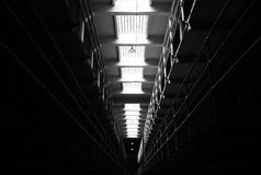 Prison cells, Black&White Royalty Free Stock Images