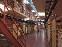 Prison cels. Dutch prison cells with yellow doors Royalty Free Stock Images