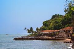 Prison centrale Aguada Goa, Inde La prison centrale est un tour incliné de fort Aguada Photographie stock libre de droits