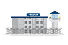 Prison city building. Royalty Free Stock Images