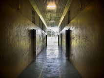Prison Corridor Between Cells Stock Photo